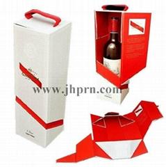 Best selling cardboard foldable paper wine box