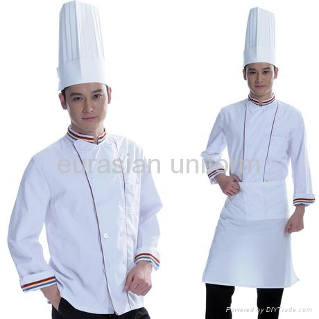 Restaurant Kitchen Uniforms free shipping) advanced hotel | restaurant kitchen chef cloth