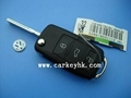 Volkswagen 3 button flip key shell with