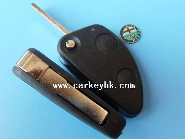 Alfa Romeo 2 buttons flip remote key shell 1