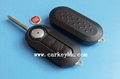 Fiat 3 buttons flip key cover with