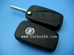 Fiat flip key blank with 3 buttons