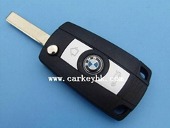BMW 3-button flip modified key shell