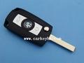 BMW 3-button flip modified key shell 2