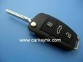 Audi A6L  3 buttons remote key shell