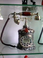 antique alloy telephone