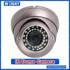 """1/3"""" Sony CCD,OSD Menu,650TVL/IR DOME camera/ CCTV security camera/Composite sig"""