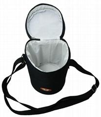 Wine/bottle cooler bag with adjustable handle