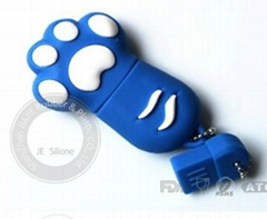paw USB ,silicone custoon USB ,Cartoon Themed USB manufacture