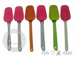 silicone kitchenware spatulas , silicone spatula with long handle ,silicone shov