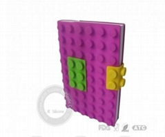 Blocks design silicone book cover ,silicone cardcase