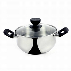 Stainless Steel Pot With Two Hands