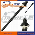 Car telescopic antenna with 4 sections black mast/ Car AM/FM radio antenna