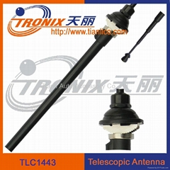 Car telescopic antenna with 4 sections black mast/ Car AM/FM radio antenna