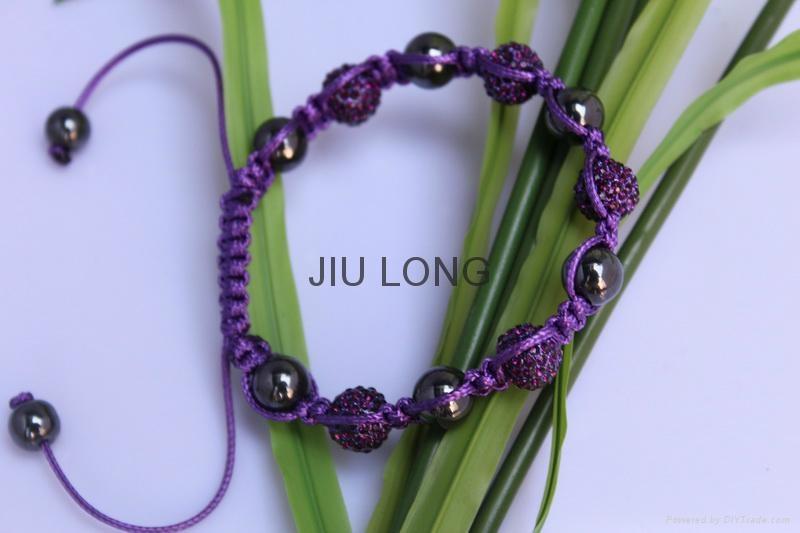 Crystal Ball Shamballa Bracelet JL-SL024 2