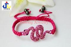 Alloy Crystal Snake Shamballa Bracelet JL-SL040