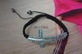 Crystal Cross Shamballa Bracelet
