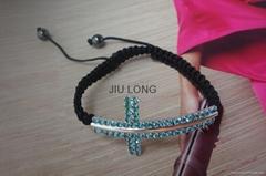 Crystal Cross Shamballa Bracelet JL-SL062