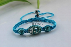 Crystal Skull and Ball Bead Bracelet JL-SL070
