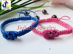 Crystal Skull Bracelet J