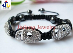 Skull and Hematite Bead Bracelet JL-SL073