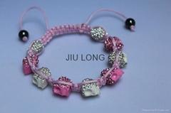 Crystal Skull Shamballa Bracelet JL-SL075