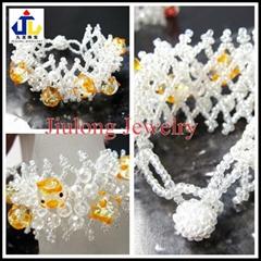 Glass Bead Bracelet with Lovely Chicken JL-SL080