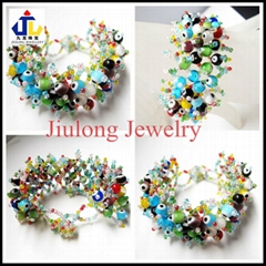 Lampwork Glass Bead Bracelet JL-SL081