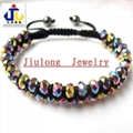 2 Rows Faceted Glass Bead Shamballa
