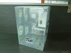 clear plastic box for money bank with cute cat design