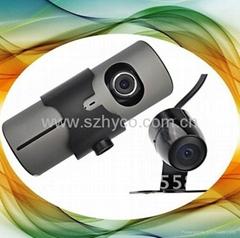 1080P HD dual camera car dvr