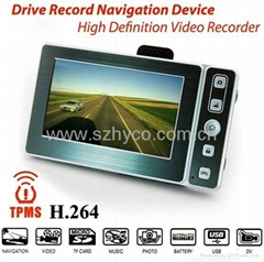 Car dvr recorder with GPS nad tire pressure monitor functions