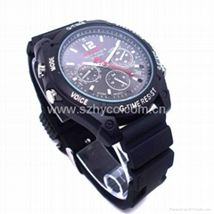 HD waterproof IR 1080P watch camera 16GB