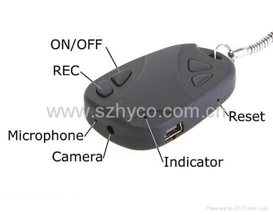 Mini DVR 808 Car Key Chain Micro Camera 4