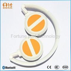 Wireless bluetooth headphones with music player