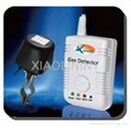 Gas alarm with automatic shut off manipulator