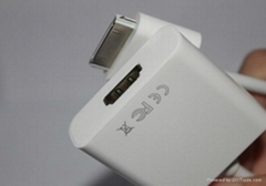 Dock Connector to HDMI Cable Adapter for iPad iPhone 4 4S 4G, iPod Touch 4