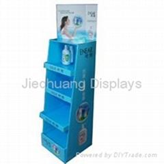 portabale floor display for shampoo promotion