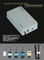 9v rechargeable li-battery  power for