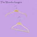 HW-02 nonslip thin wooden hangers for