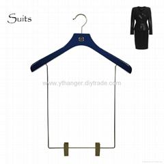 HW-03 luxury colored wooden women suits hangers