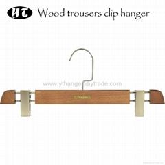 HW-04 beech wooden trousers clip hangers