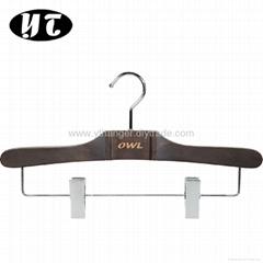 HW-07 beech wooden pants clips hangers