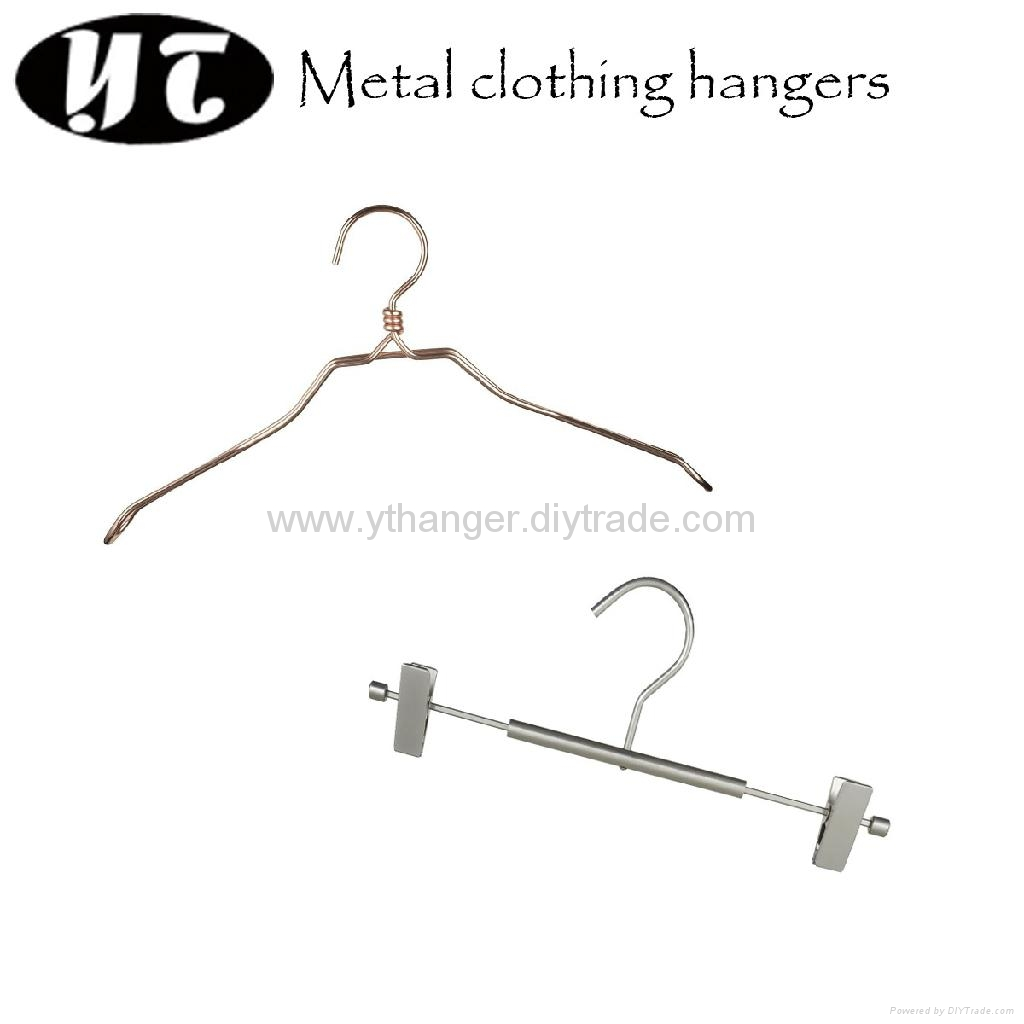 HM-01 plated metal wire clothing hangers 1