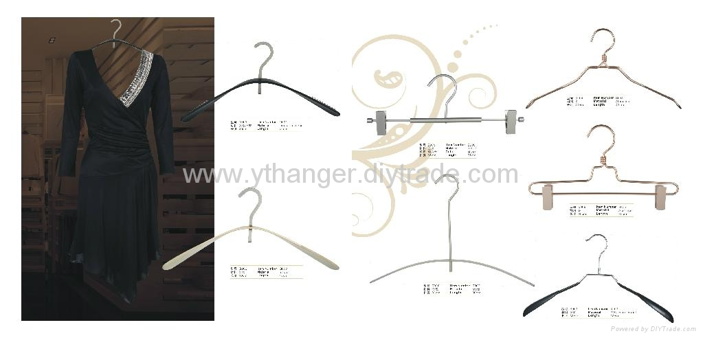 HM-01 plated metal wire clothing hangers 2