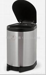 不锈钢感应式垃圾桶