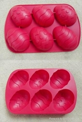 Sell Hot sell 6 egg shape Silicone cake mold