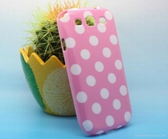 Fashionable lovely dot cover case for samsung i9300