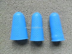 Flexible silicone finger cots