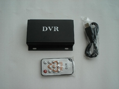 MINI CAR SD DVR 32GB UP to D1 pixels,Real-time video motion detection,2CH AV in